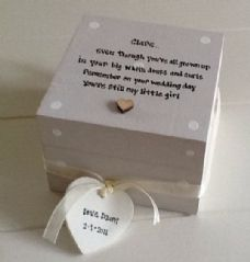 Shabby Personalised Chic Gift For Bride On Her Wedding Day From Mum Gift Present